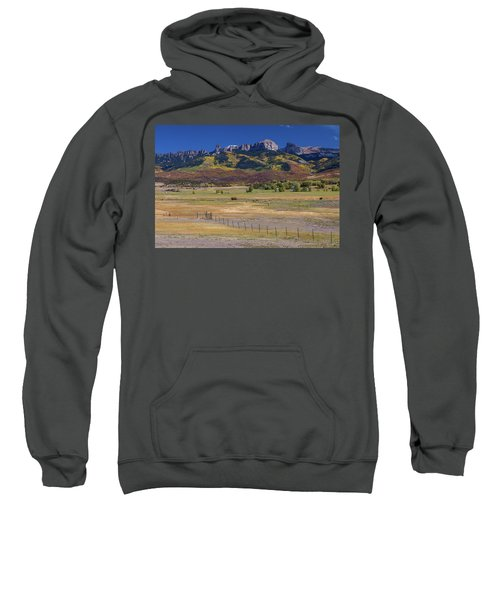 Sweatshirt featuring the photograph Courthouse Mountains And Chimney Rock Peak by James BO Insogna