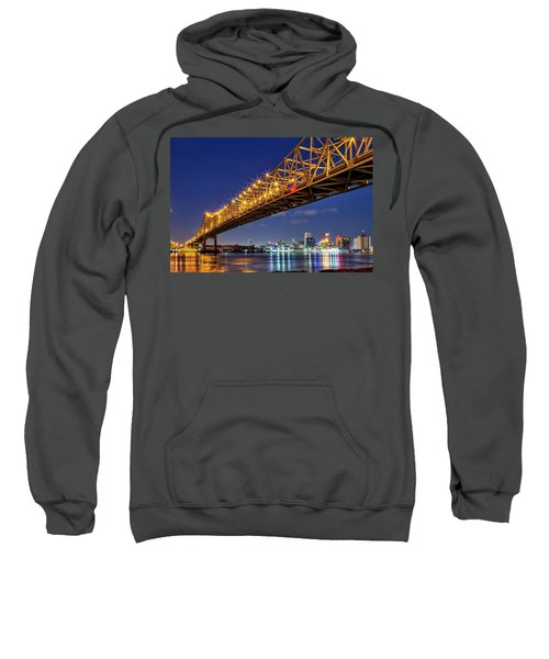 The Crescent City Bridge, New Orleans  Sweatshirt