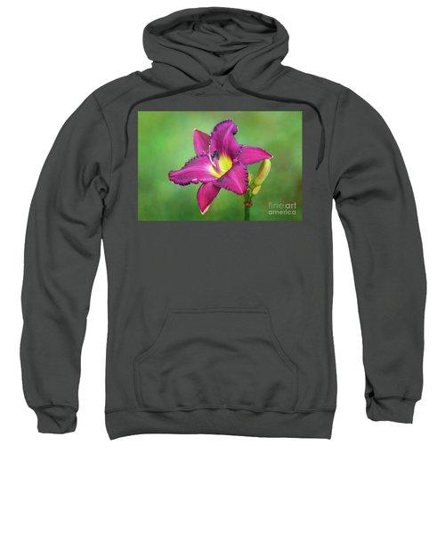 Glorious Crimson Daylily Sweatshirt