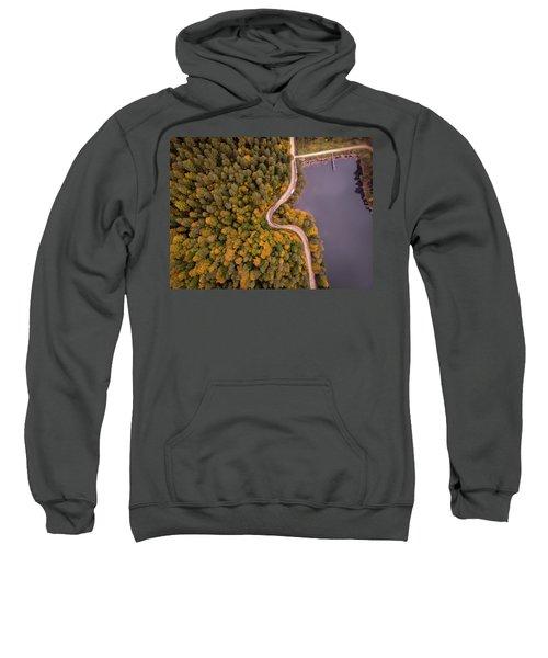 Curved Road At Lakeside Sweatshirt