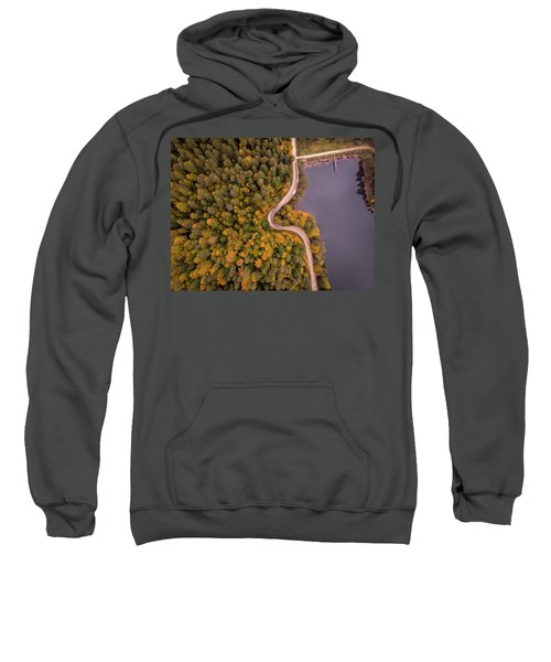 Curved Road At Lakeside Sweatshirt