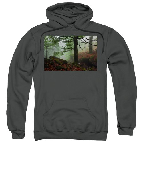 Sweatshirt featuring the photograph Dark Forest by Evgeni Dinev