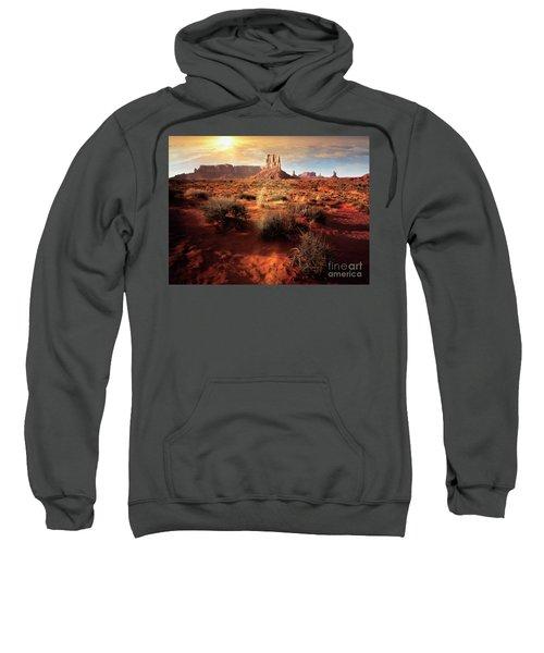 Sweatshirt featuring the photograph Desert Sun by Scott Kemper
