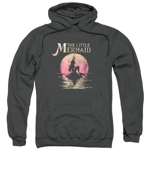 Disney The Little Mermaid Ariel Rock Moon Silhouette T-shirt Sweatshirt