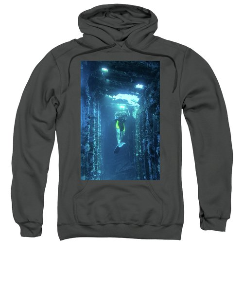 Diver In The Patris Shipwreck Sweatshirt