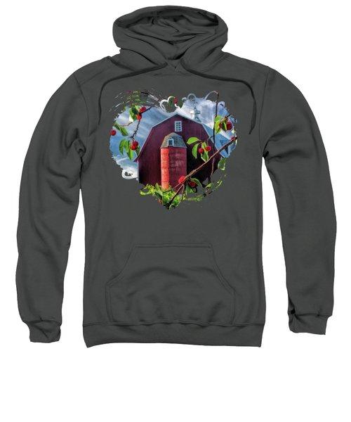 Door County Cherry Harvest Red Barn Sweatshirt