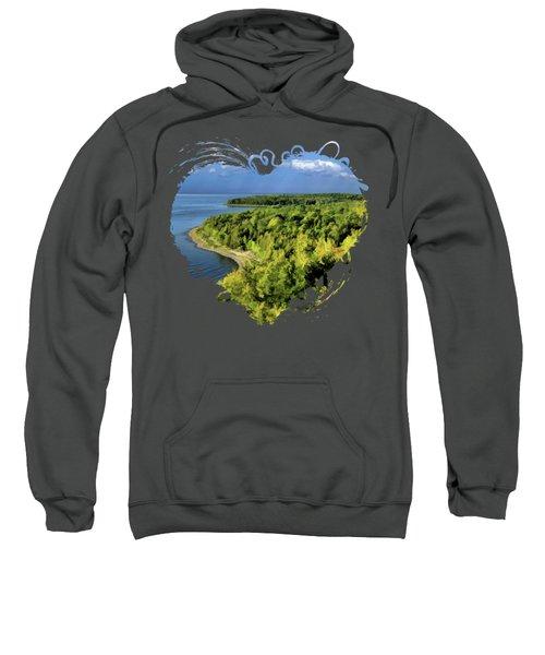 Door County Peninsula State Park Svens Bluff Overlook Sweatshirt