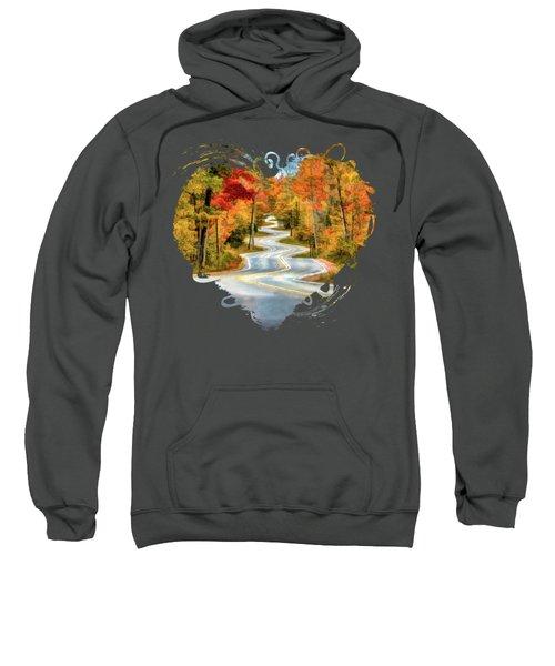 Door County Road To Northport In Autumn Sweatshirt