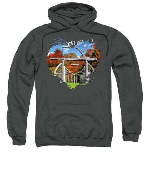 Door County Rock Island Japanese Garden Gate Sweatshirt
