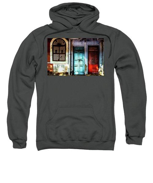 Doors Of India - Blue Door And Red Door Sweatshirt