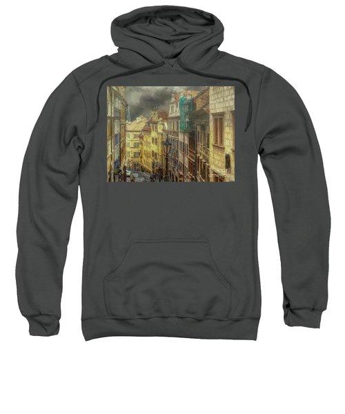 Downhill, Downtown, Prague Sweatshirt
