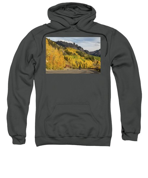 Sweatshirt featuring the photograph Easy Autumn Rider by James BO Insogna