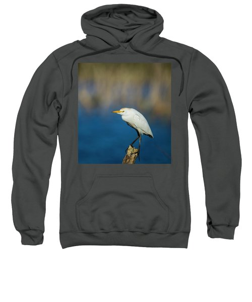 Egret On A Stick Sweatshirt