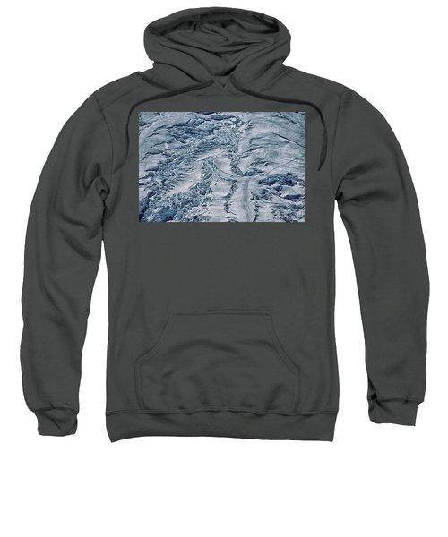 Emmons Glacier On Mount Rainier Sweatshirt