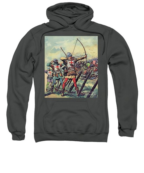English Bowmen At The Battle Of Crecy Sweatshirt
