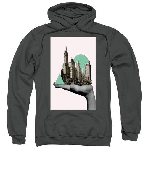 Exquisite Buildings On Palm Sweatshirt