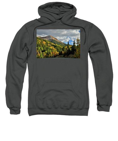 Fall Color Aspens Beneath Red Mountain Sweatshirt