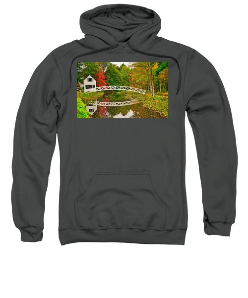 Fall Footbridge Reflection Sweatshirt