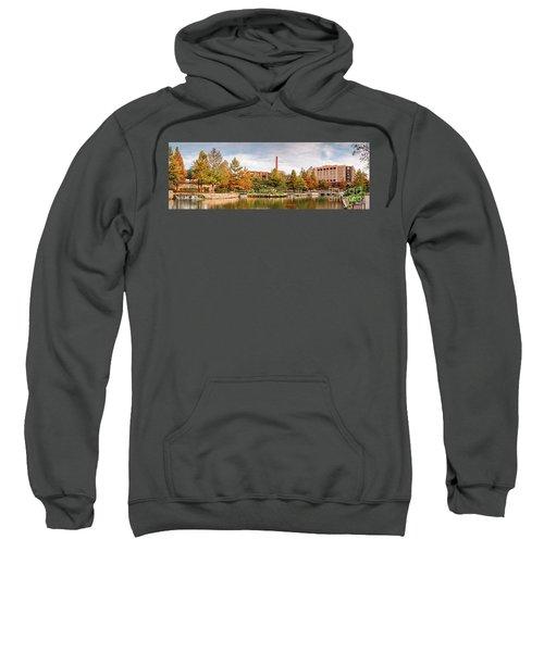 Fall Panorama Of Pearl Brewery, Hotel Emma, And San Antonio Riverwalk - Bexas County Texas Sweatshirt