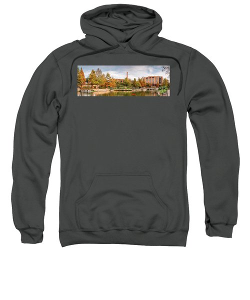Fall Panorama Of Pearl Brewery, Hotel Emma, And San Antonio Riverwalk - Bexas County Texas Sweatshirt