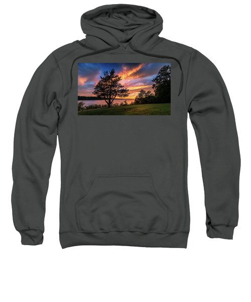 Fishing At End Of Day Sweatshirt
