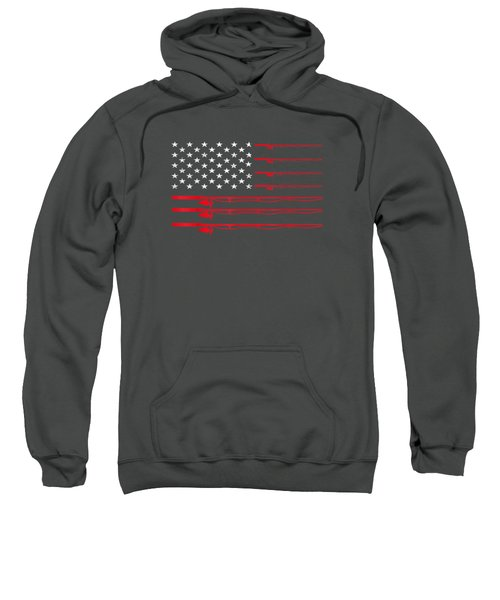 Fishing Rod T Shirt American Usa Flag - Fisherman Gift Idea Sweatshirt
