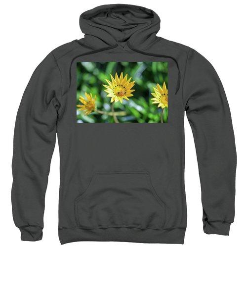 Yellow Flowers And A Bee Sweatshirt