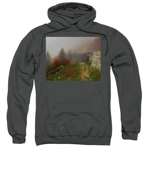 Foggy Blue Ridge Parkway - Linn Cove Viaduct Fall Sweatshirt