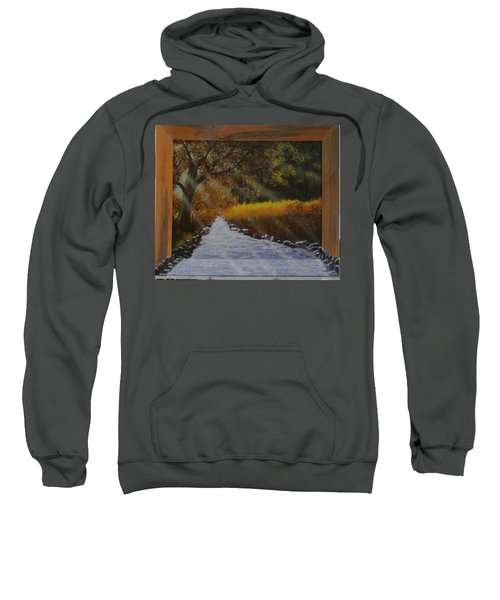 Forest Sunrays Over Water Sweatshirt