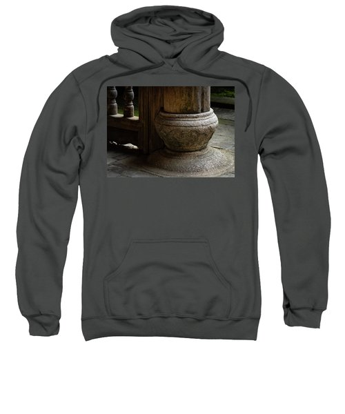 Foundation Stone Under Wooden Pole Used In Chinese Architecture Sweatshirt