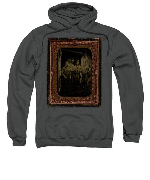Four Men With Tools  Ca  1860 Ambrotype Sweatshirt