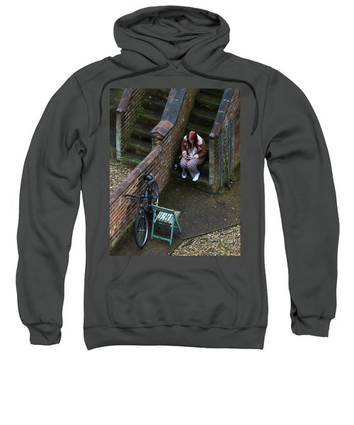 Girl On A Phone Sweatshirt