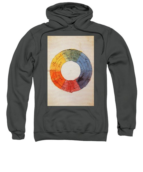 Goethe's Colour Wheel, 1810 Sweatshirt