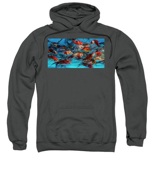 Gold Fish Abstract Sweatshirt