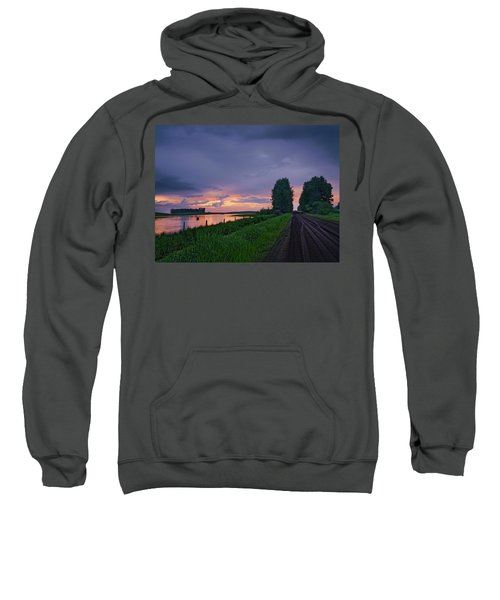 Golden Sunset Near Westlock Sweatshirt