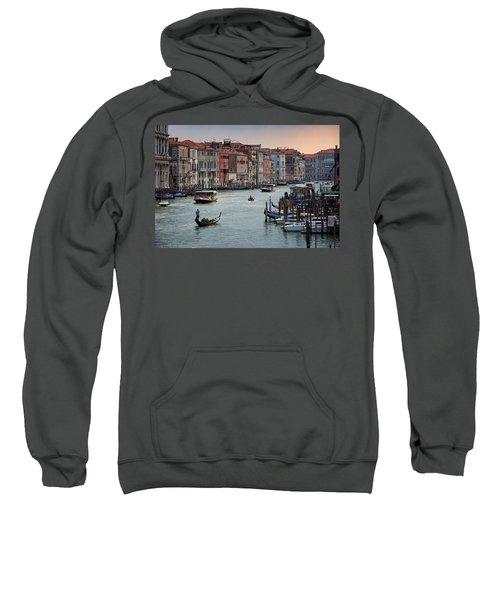 Grand Canal Gondolier Venice Italy Sunset Sweatshirt