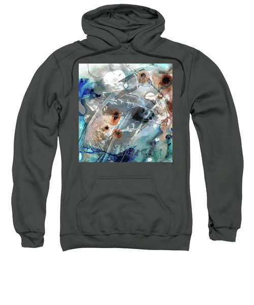 Gray And Blue Abstract Art - Enchanted Journey Sweatshirt