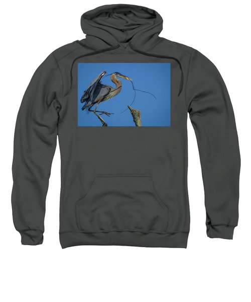 Great Blue Heron 4034 Sweatshirt