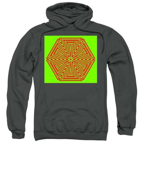 Green And Red Fusion  Sweatshirt