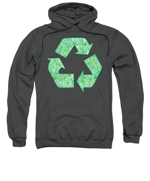 Green Foliage Pattern Sweatshirt