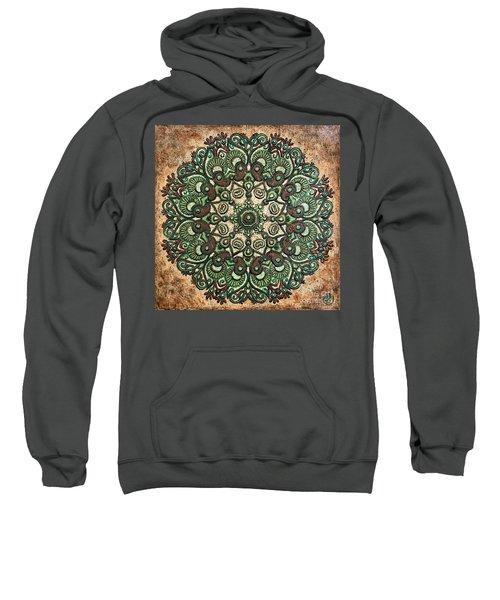 Green Mandala Sweatshirt