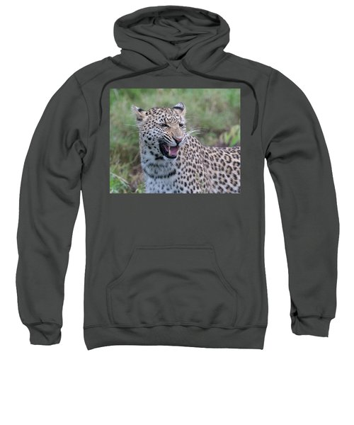 Grimacing Leopard Sweatshirt