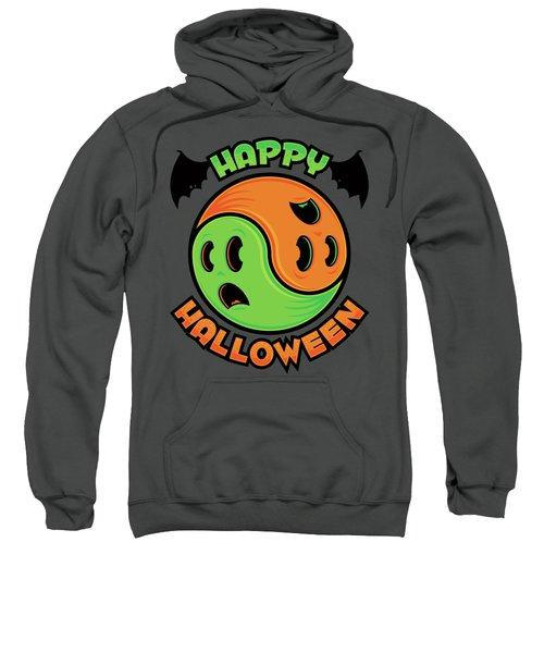 Happy Halloween Ghost Yin-yang Sweatshirt