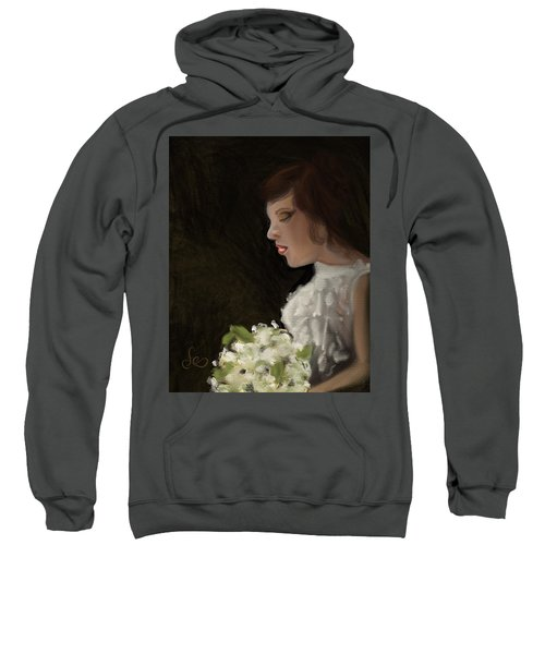 Sweatshirt featuring the painting Her Big Day by Fe Jones