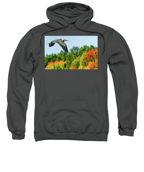 Heron In Autumn  Sweatshirt