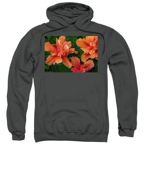 Hibiscus Tripcus Orangus Sweatshirt