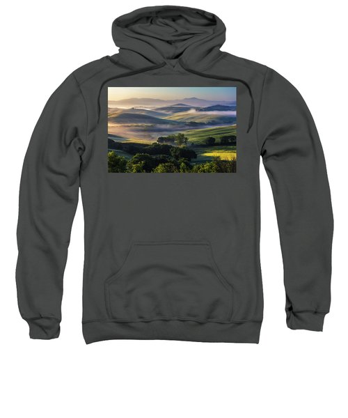 Sweatshirt featuring the photograph Hilly Tuscany Valley by Evgeni Dinev