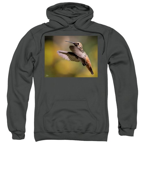 Sweatshirt featuring the photograph Hummer 4 by Endre Balogh