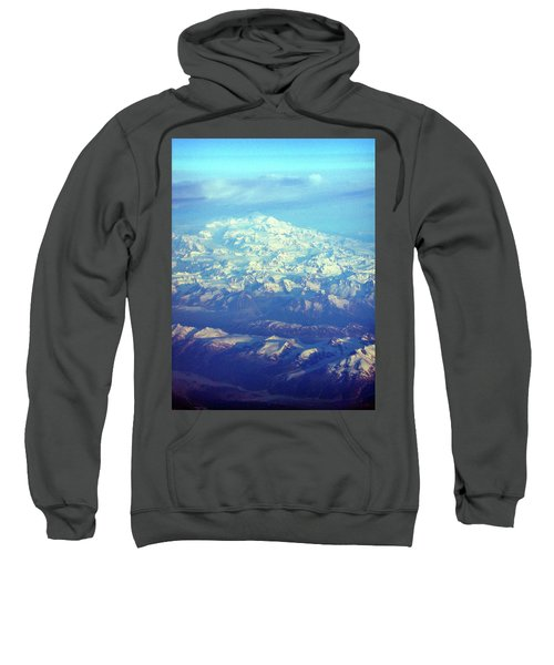 Ice Covered Mountain Top Sweatshirt