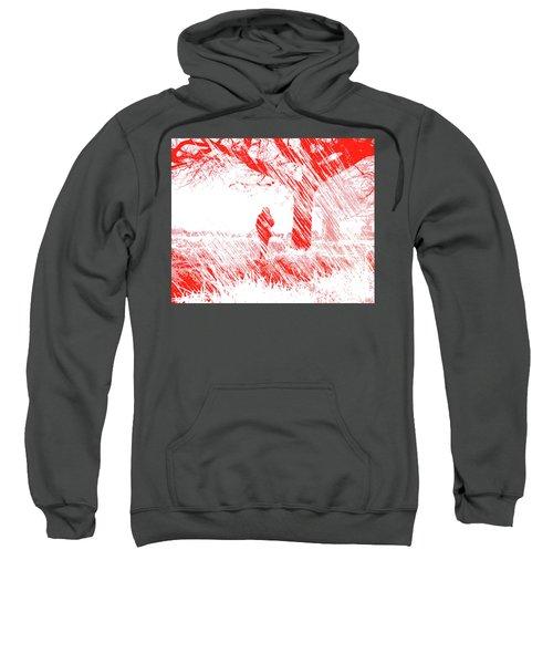 Icy Shards Fall On Setttled Snow Sweatshirt